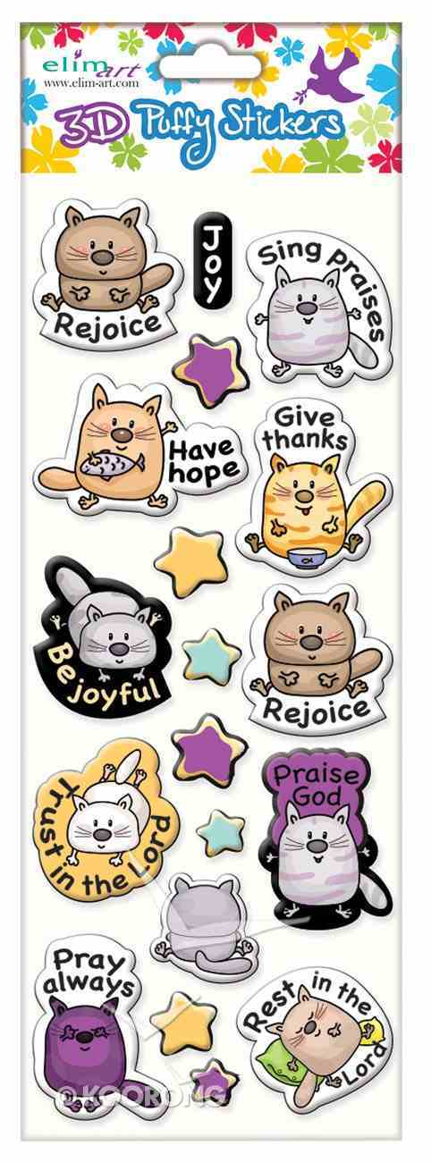 Puffy Stickers: Kitty Cat Series (1 Sheet Per Pack) Novelty