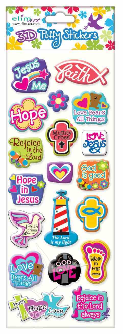 Puffy Stickers: Mixed Icons Series (1 Sheet Per Pack) Novelty