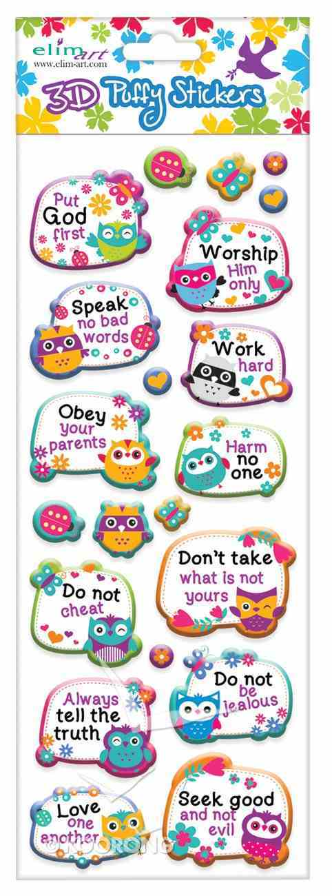 Puffy Stickers: Wise Owl Series (1 Sheet Per Pack) Novelty