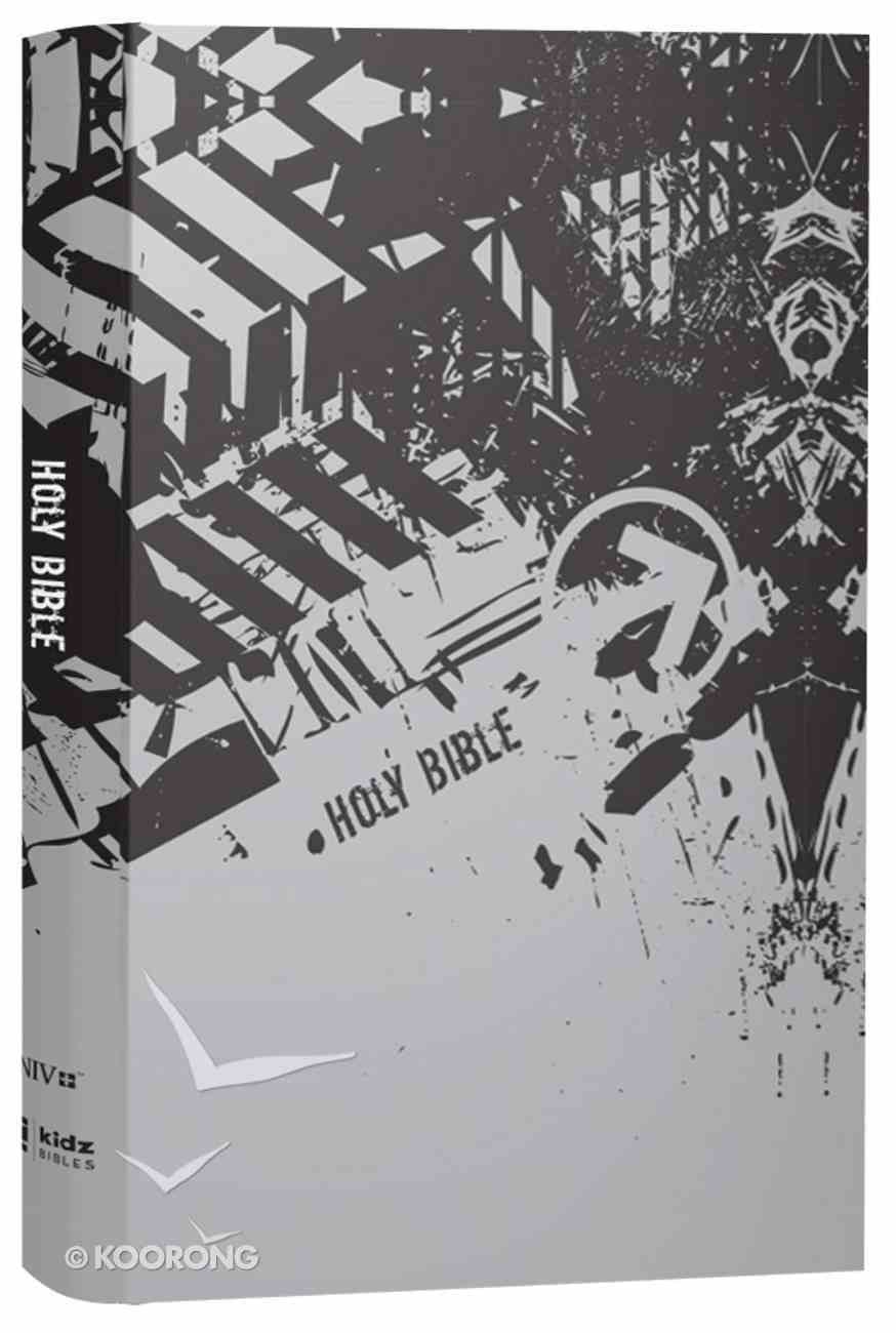 NIV Bible For Kids Large Print Gray (Red Letter Edition) Hardback