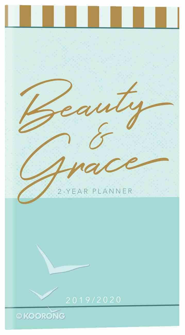 2019/2020 2 Year Pocket Diary/Planner: Beauty & Grace (Aqua/gold Print) Paperback