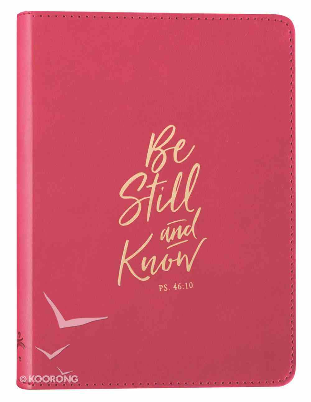 Journal: Be Still and Know, Pink, Handy-Sized Imitation Leather