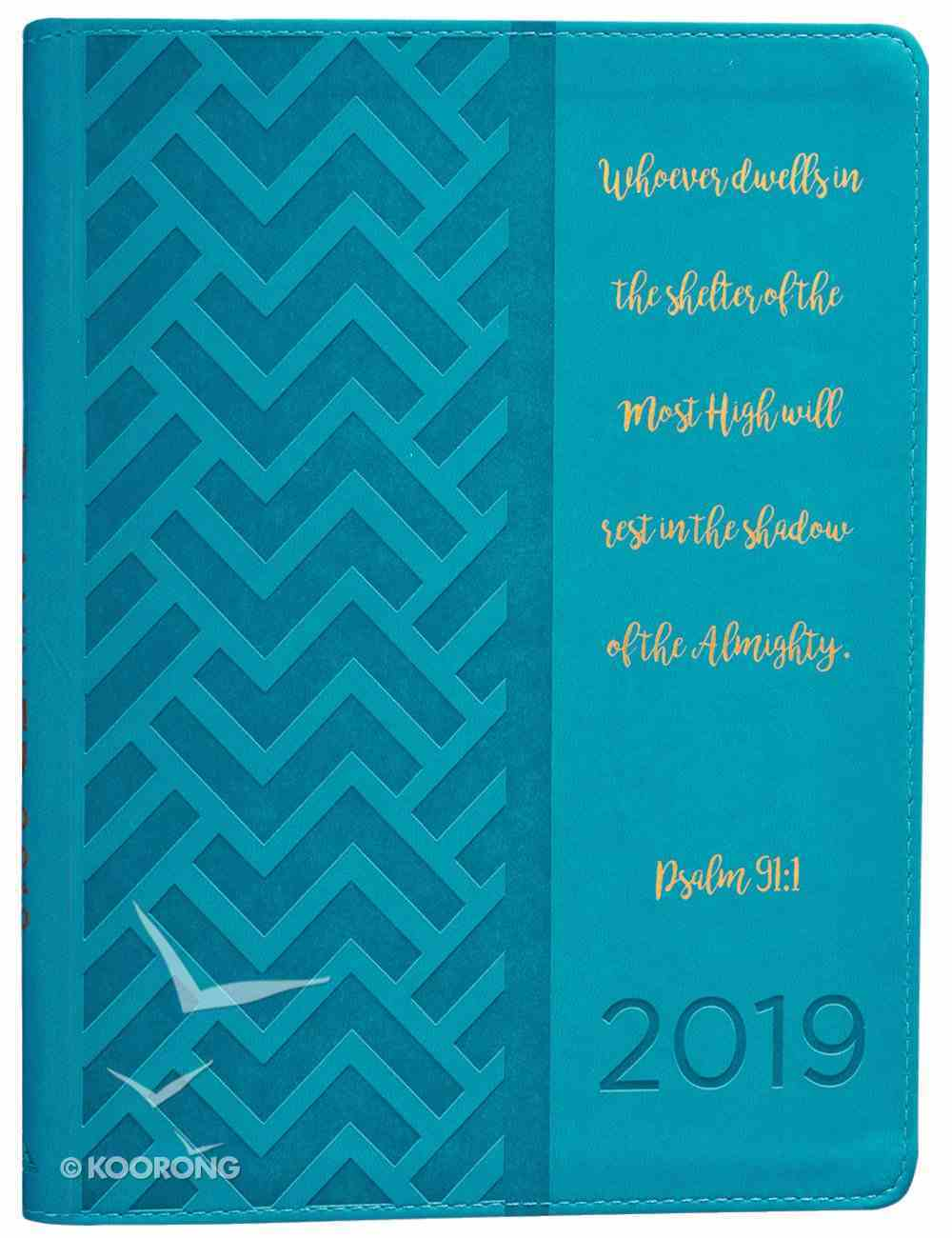 2019 Large 18-Month Diary/Planner: Teal Imitation Leather