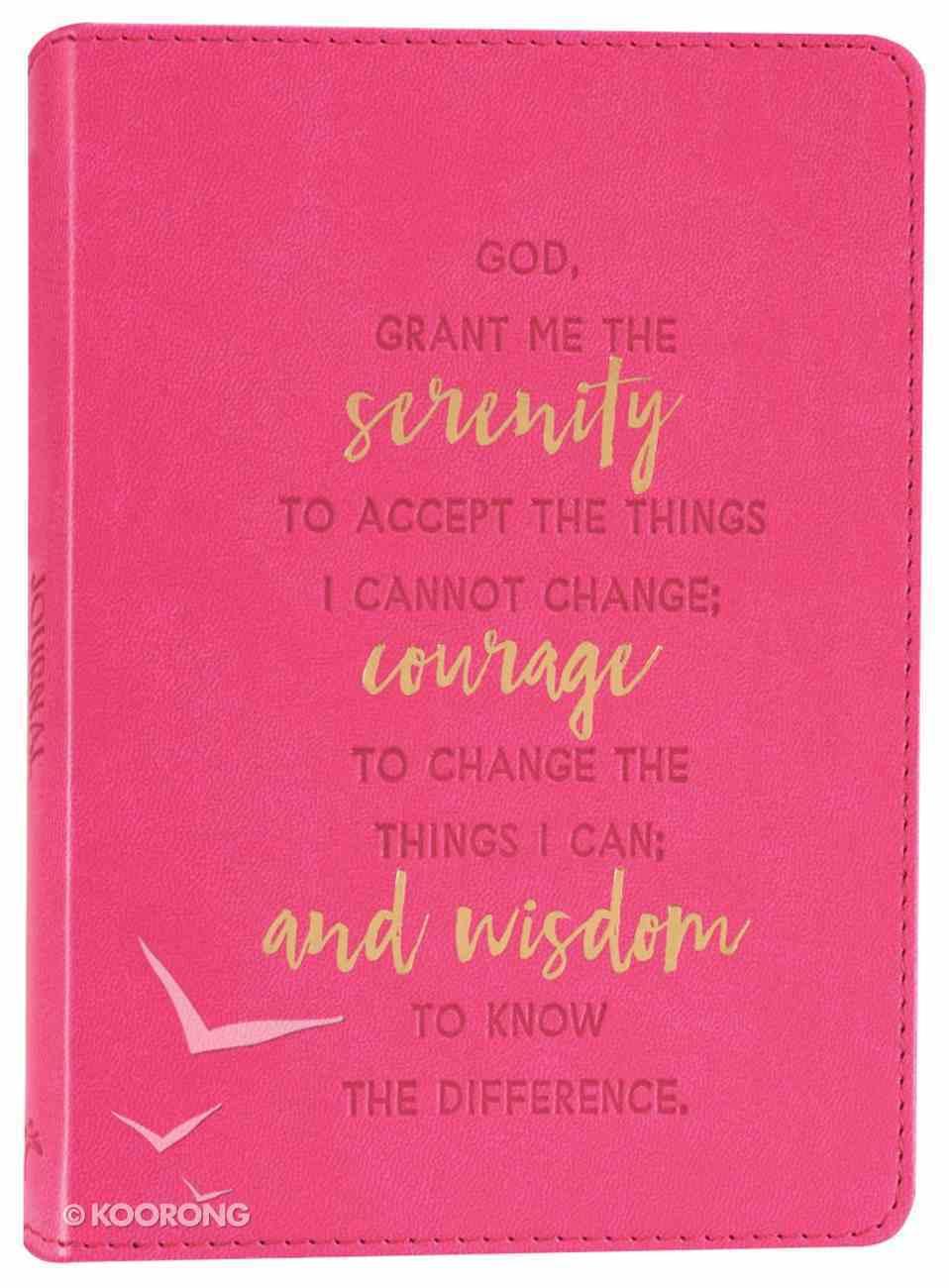 Journal: Serenity Prayer, Bright Pink, Handy-Sized Imitation Leather