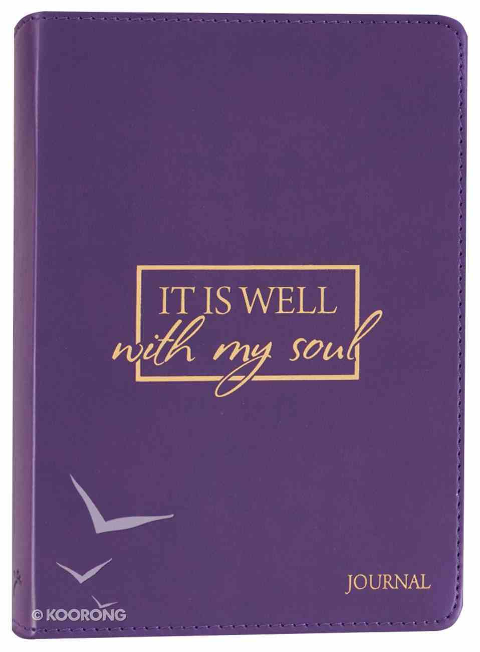 Journal: It is Well With My Soul, Purple, Handy-Sized Imitation Leather
