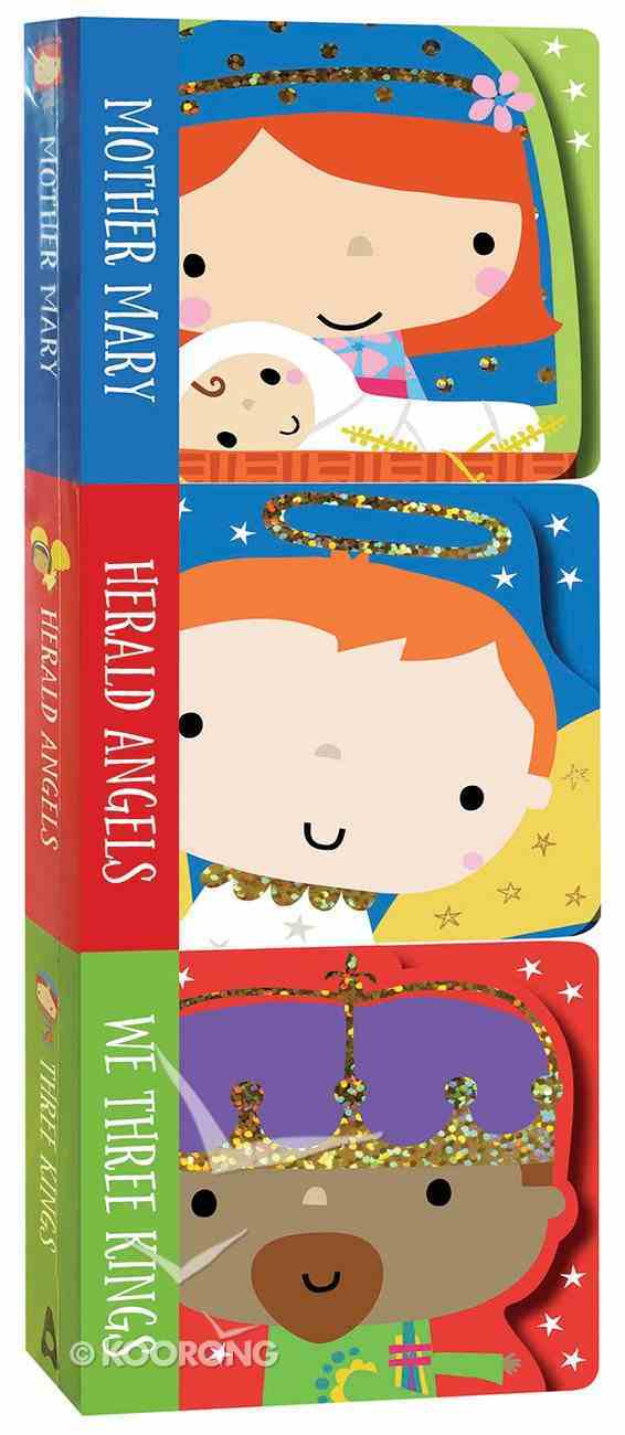 Nativity Mini Board Book Stack Set of 3: Mother Mary, Herald Angels, We Three Kings Board Book