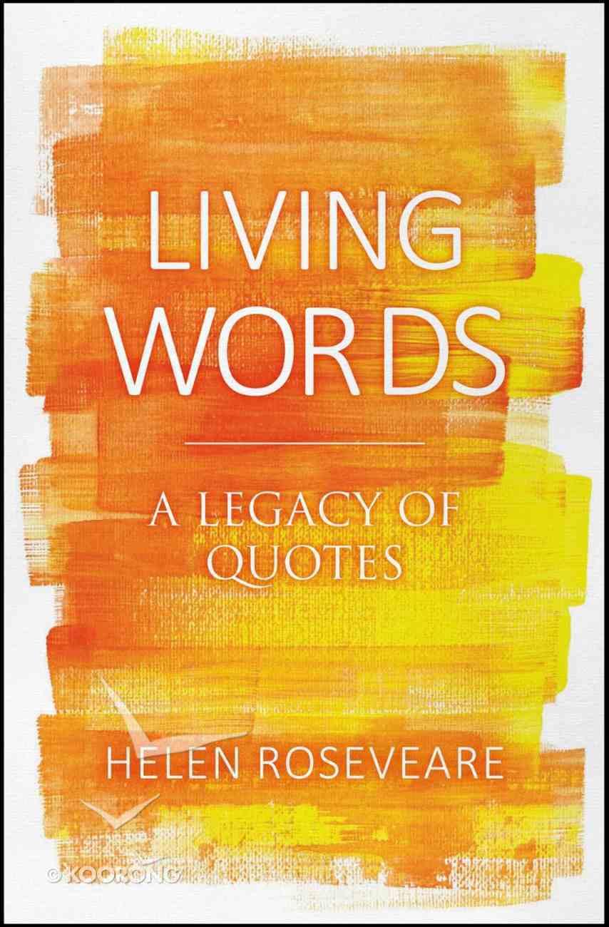 Living Words Hardback