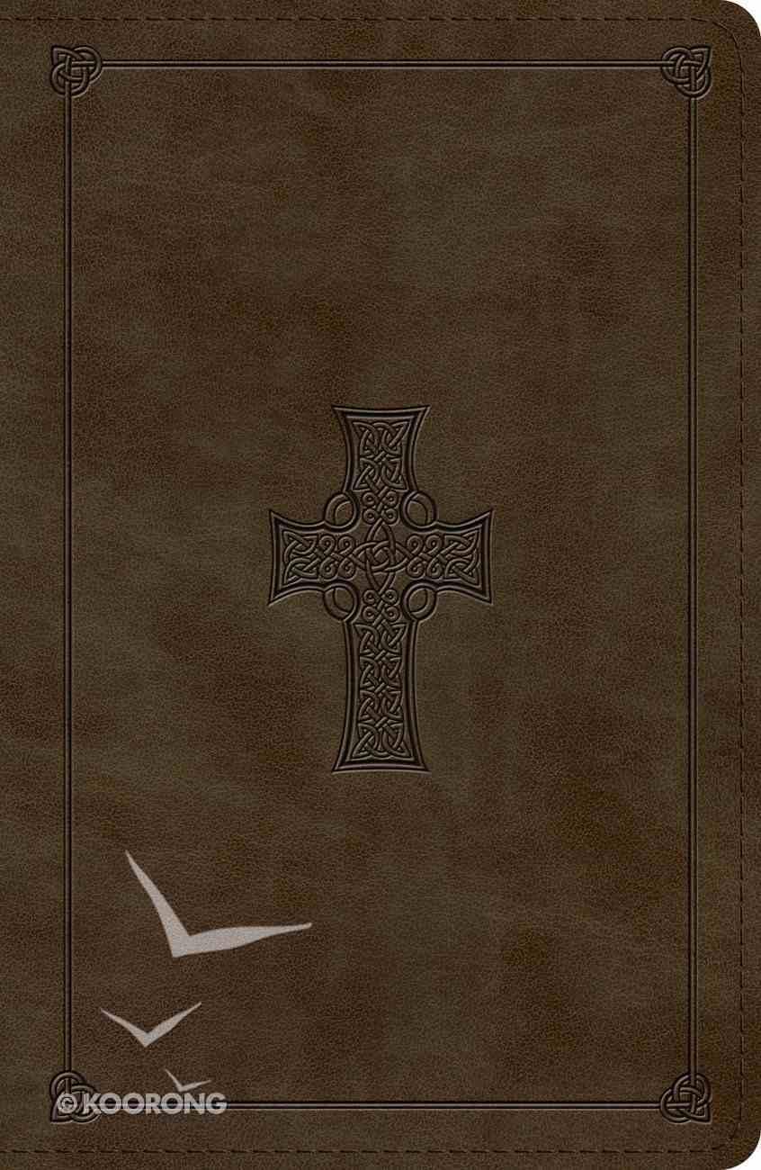 ESV Reference Bible Olive Celtic Cross Design (Red Letter Edition) Imitation Leather