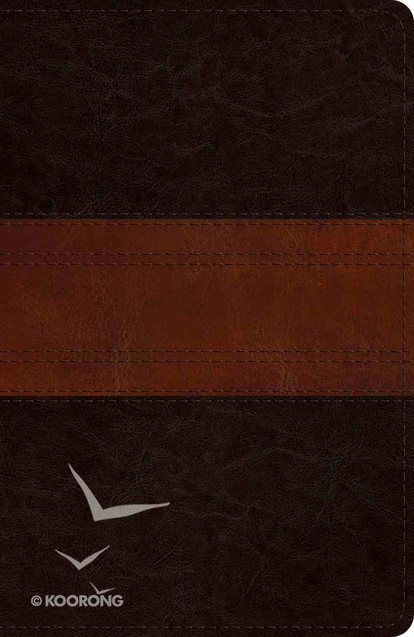 ESV Reference Bible Deep Brown/Tan Trail Design (Red Letter Edition) Imitation Leather