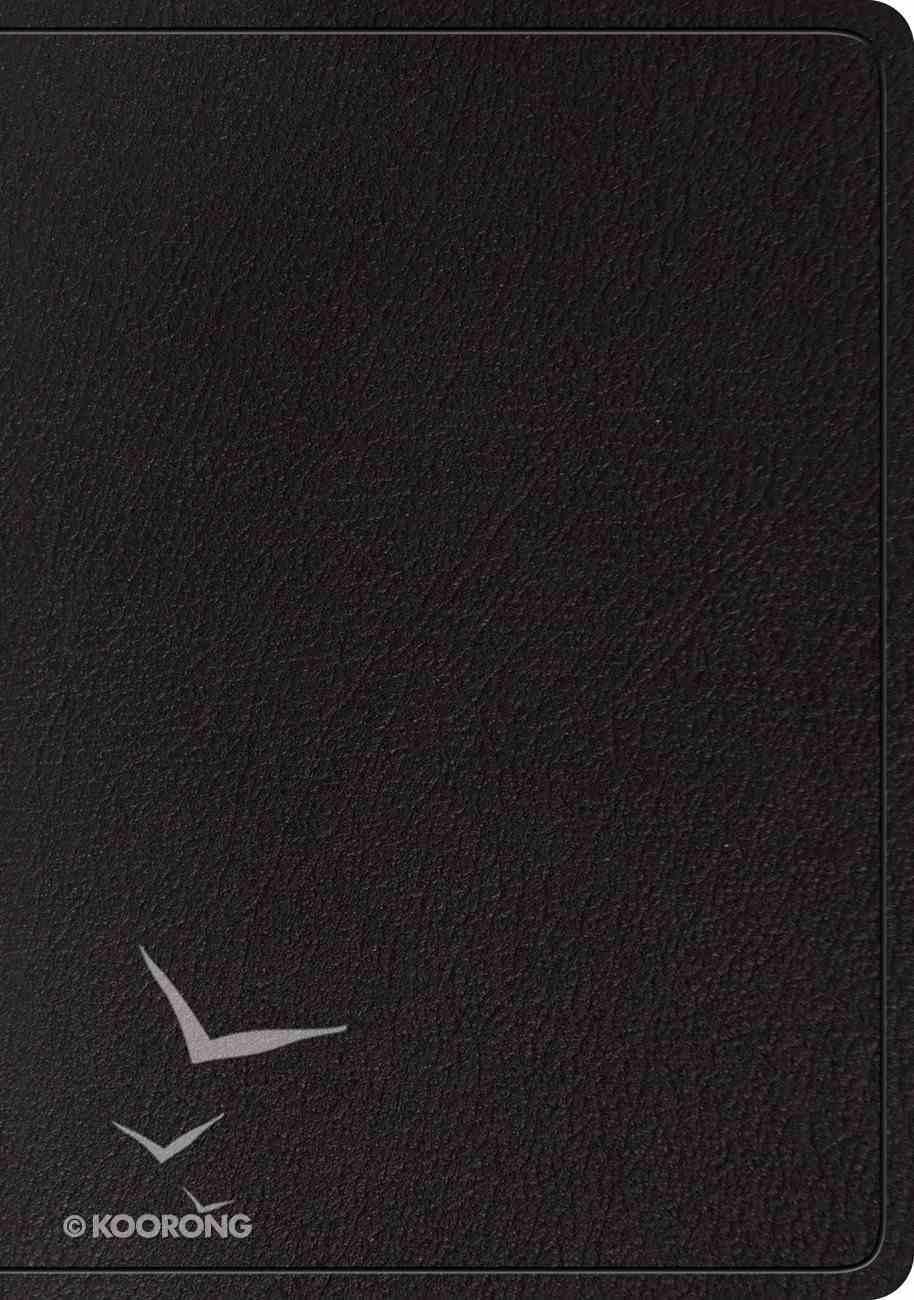 ESV Large Print Wide Margin Bible Black (Black Letter Edition) Genuine Leather