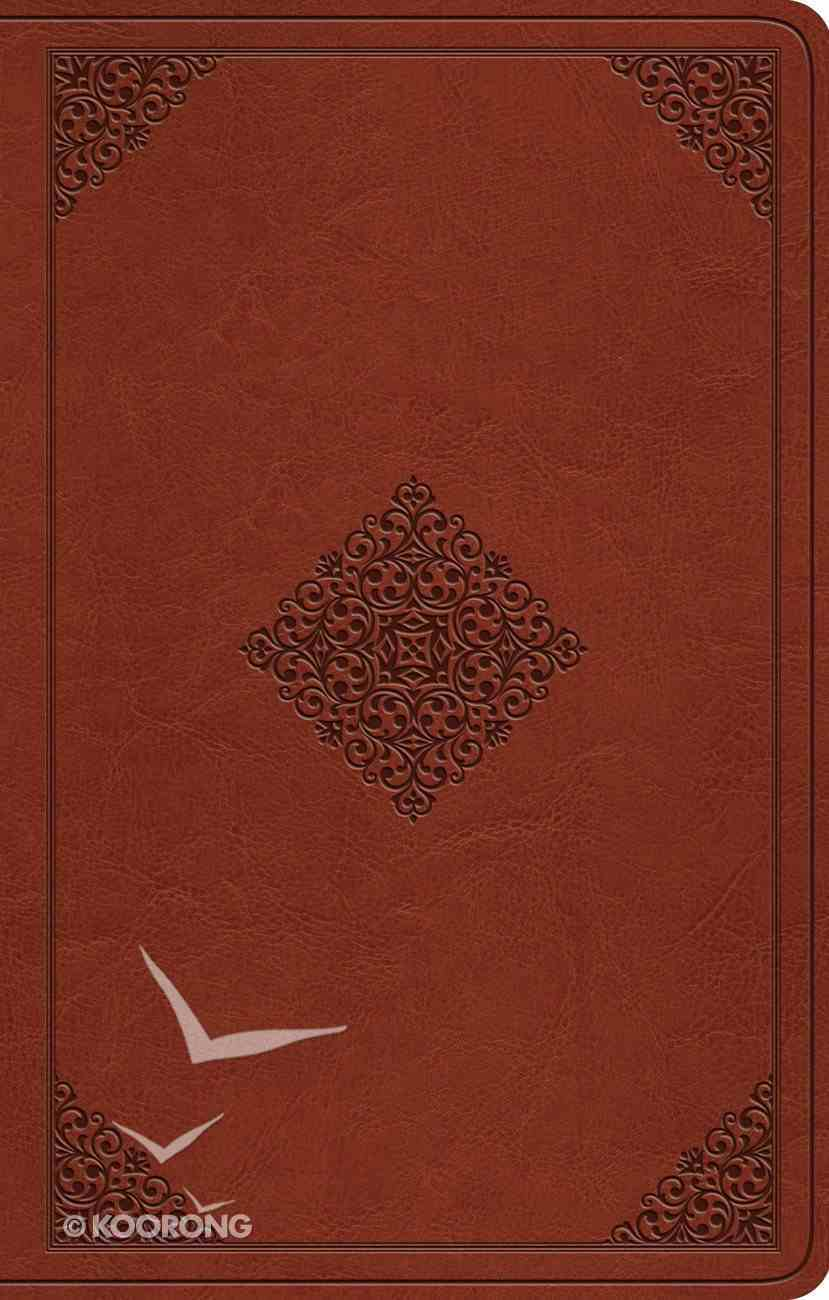 ESV Premium Gift Bible Tan Ornament Design Imitation Leather