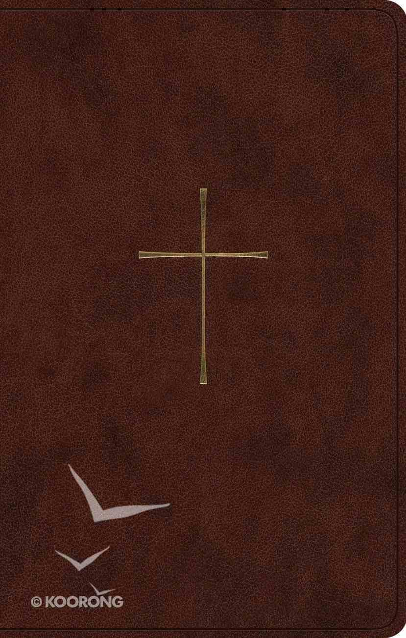 ESV Premium Gift Bible Brown Cross Design Imitation Leather