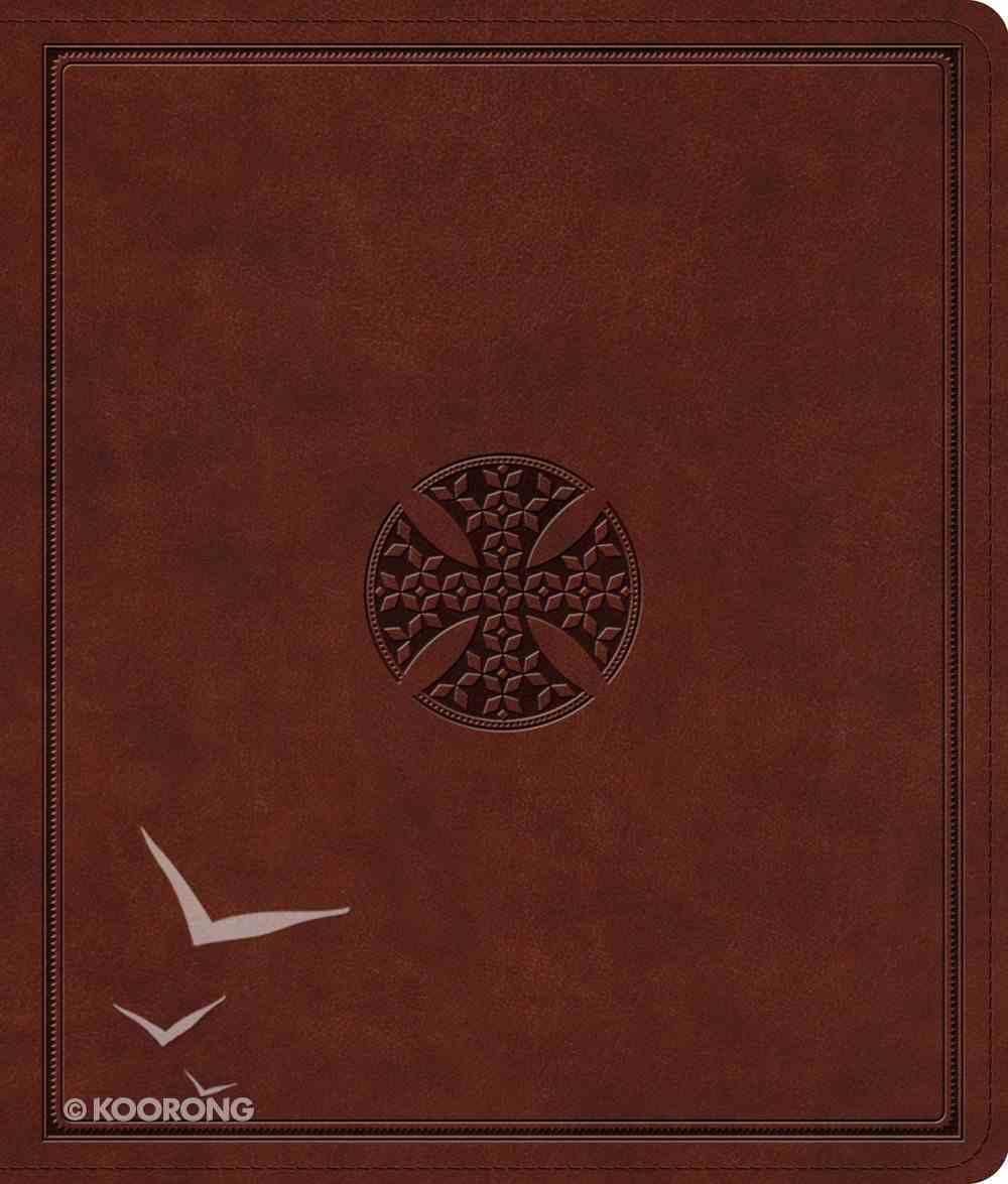 ESV Journaling Bible Brown Mosaic Cross Design (Black Letter Edition) Imitation Leather