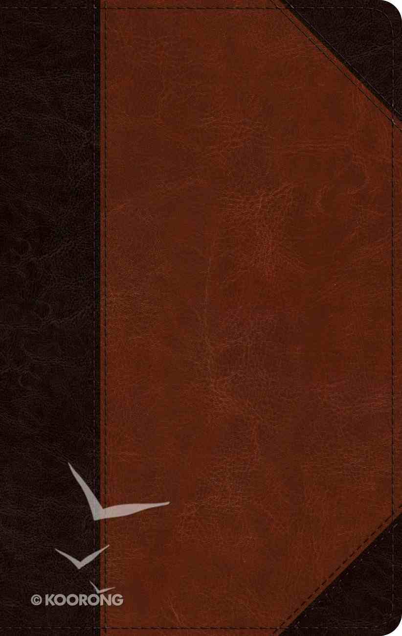 ESV Large Print Personal Size Bible Brown/Cordovan Portfolio Design (Red Letter Edition) Imitation Leather