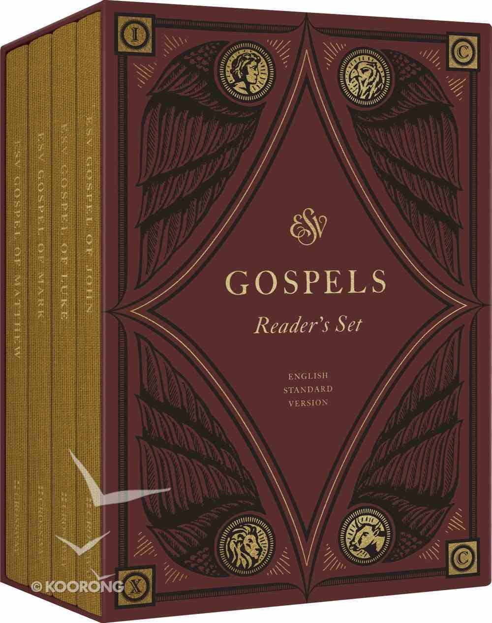 ESV Gospels Reader's Set (Black Letter Edition) Hardback