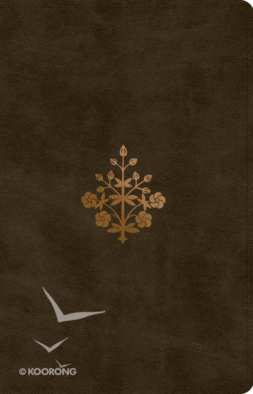 ESV Large Print Thinline Reference Bible Olive Branch Design Imitation Leather
