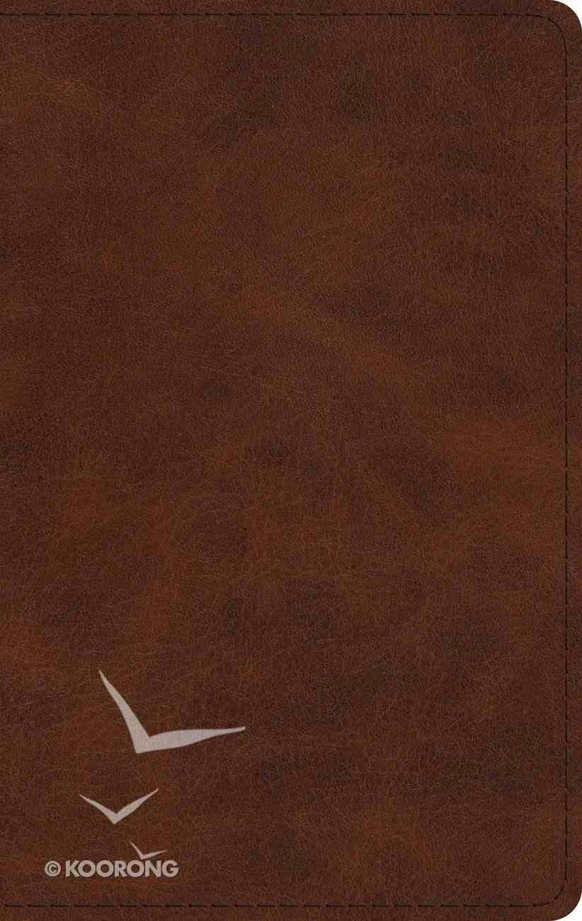 ESV Large Print Thinline Bible Deep Brown Imitation Leather