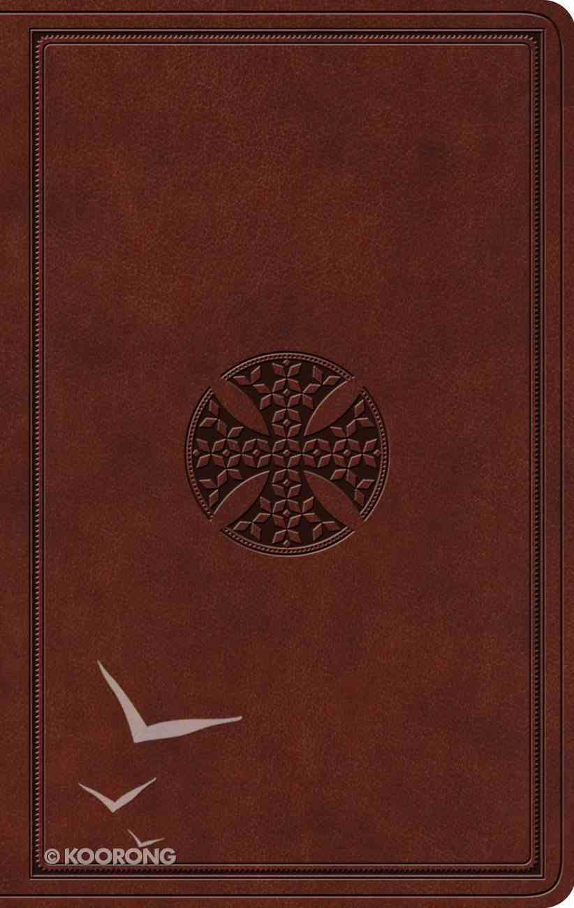 ESV Value Thinline Bible Brown Mosaic Cross Design (Black Letter Edition) Imitation Leather