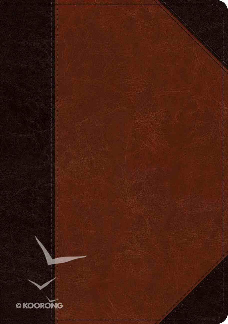 ESV Large Print Wide Margin Bible Brown/Cordovan Portfolio Design (Black Letter Edition) Imitation Leather
