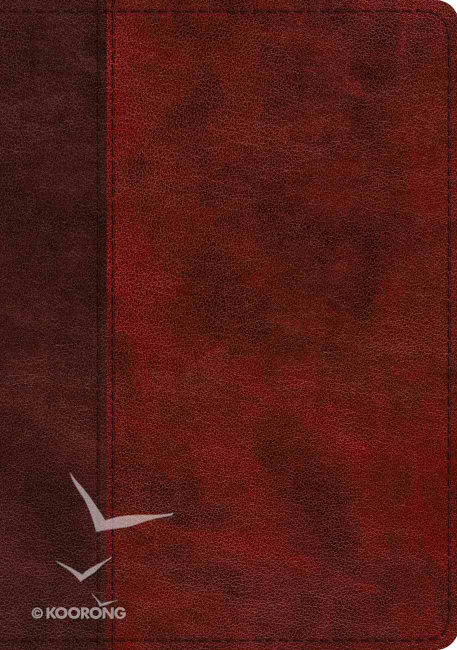 ESV Study Bible Burgundy/Red Timeless Design (Black Letter Edition) Imitation Leather