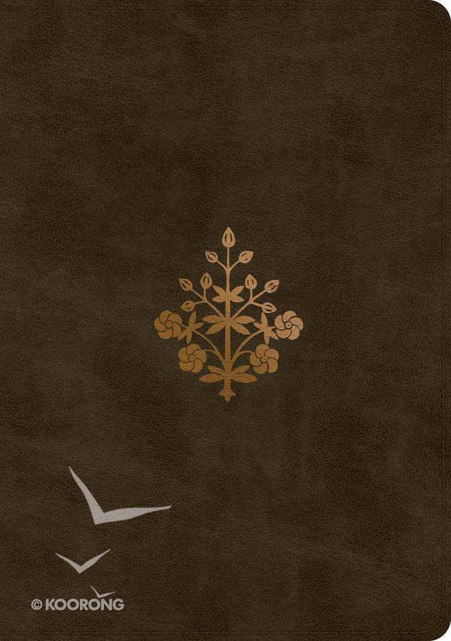 ESV Single Column Journaling Bible Large Print Olive Branch Design (Black Letter Edition) Imitation Leather