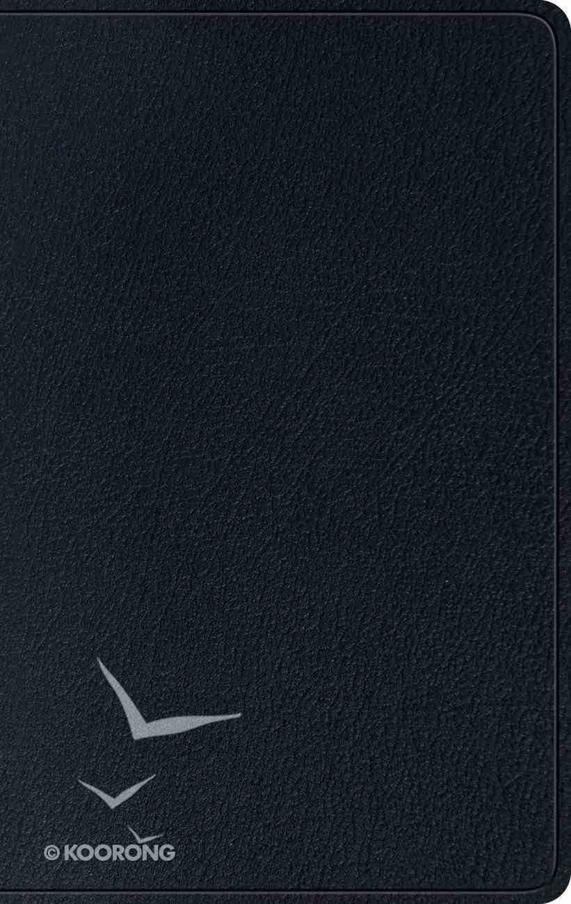 ESV Single Column Thinline Bible Black (Black Letter Edition) Genuine Leather