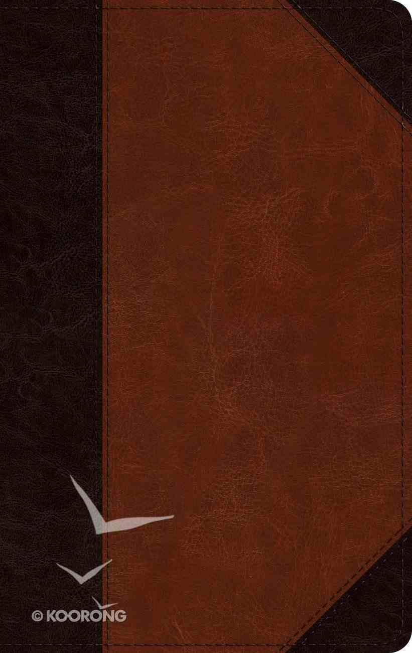 ESV Single Column Thinline Bible Brown/Cordovan Portfolio Design (Black Letter Edition) Imitation Leather
