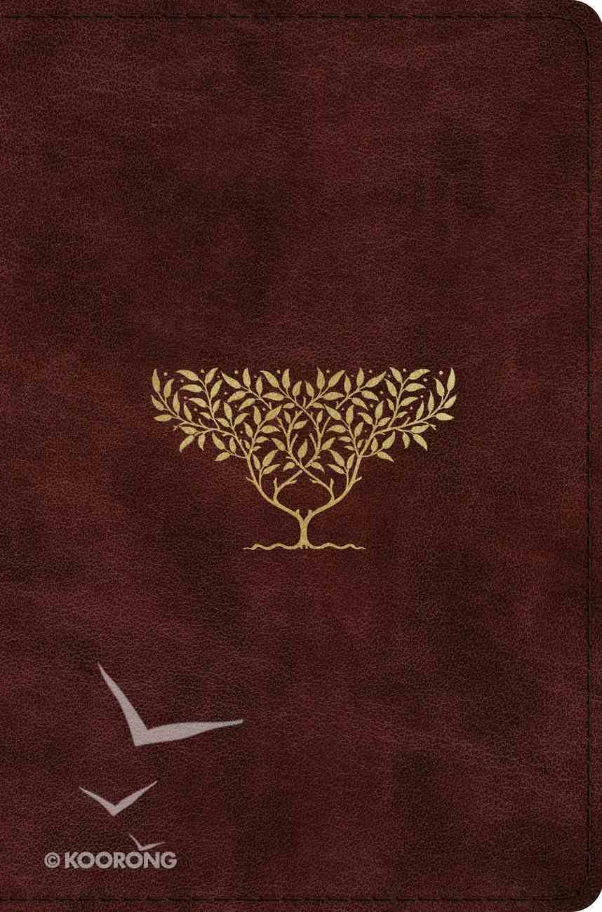 ESV Compact Bible Burgundy Olive Tree Design (Black Letter Edition) Imitation Leather