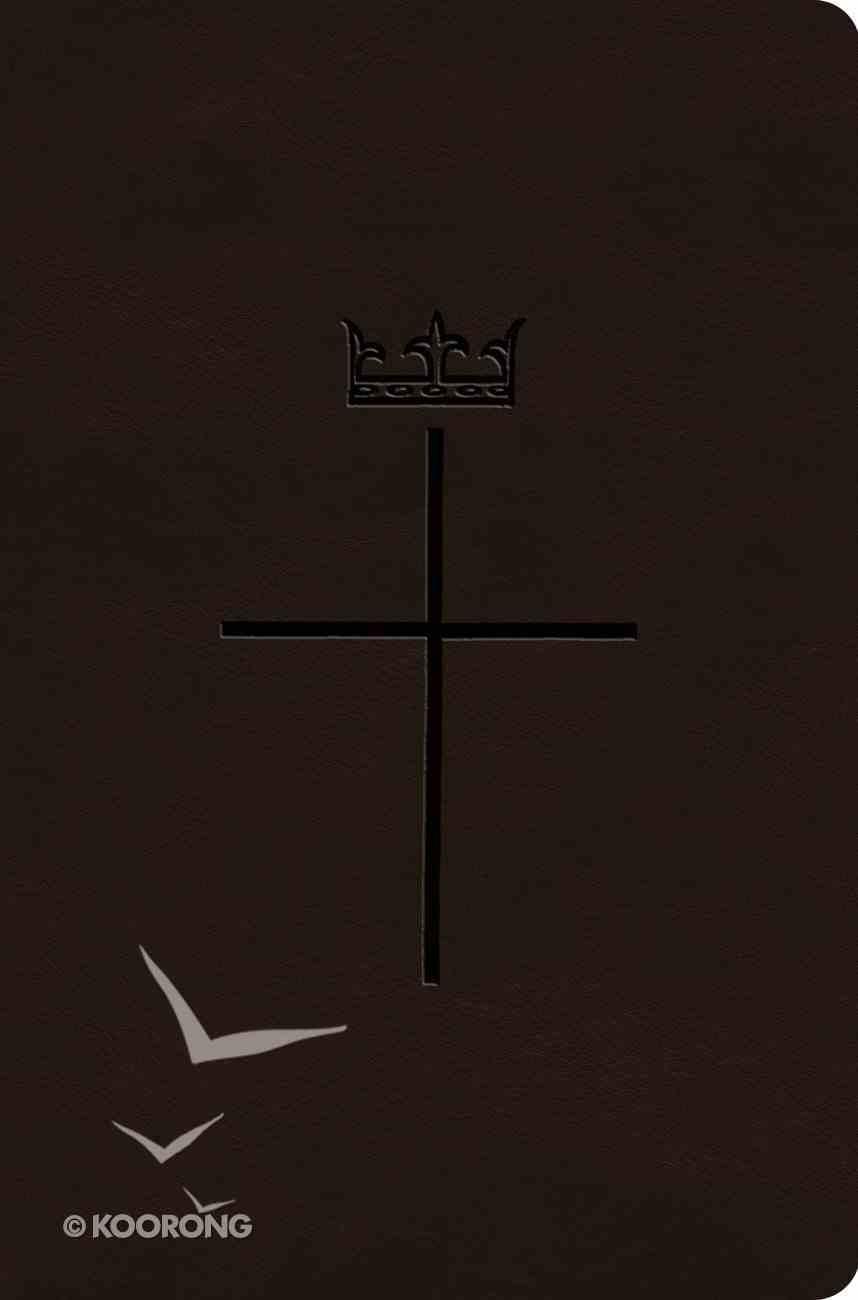 ESV Value Compact Bible Deep Brown Royal Cross Design (Black Letter Edition) Imitation Leather