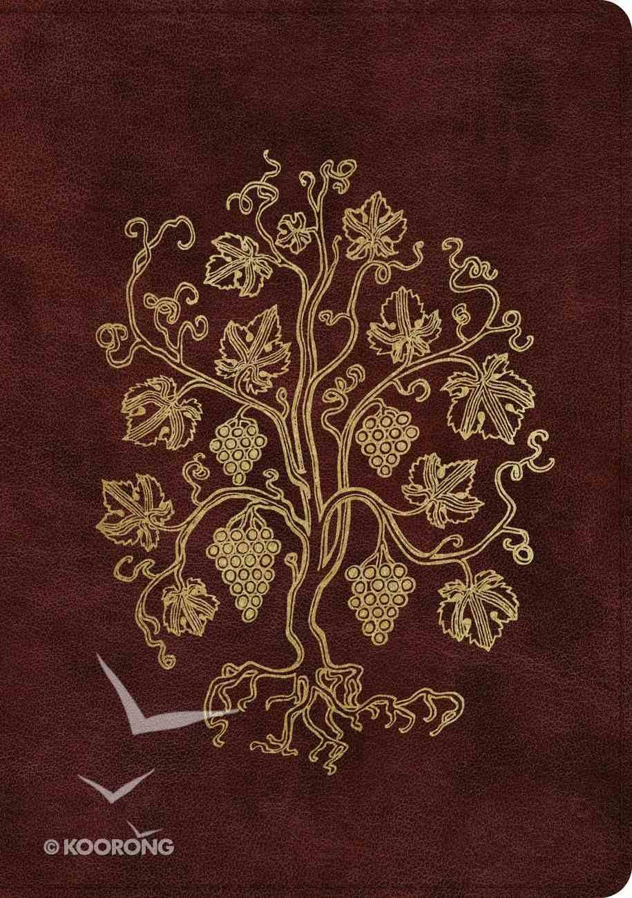 ESV Single Column Journaling Bible Large Print Burgundy Grapevine Design (Black Letter Edition) Imitation Leather