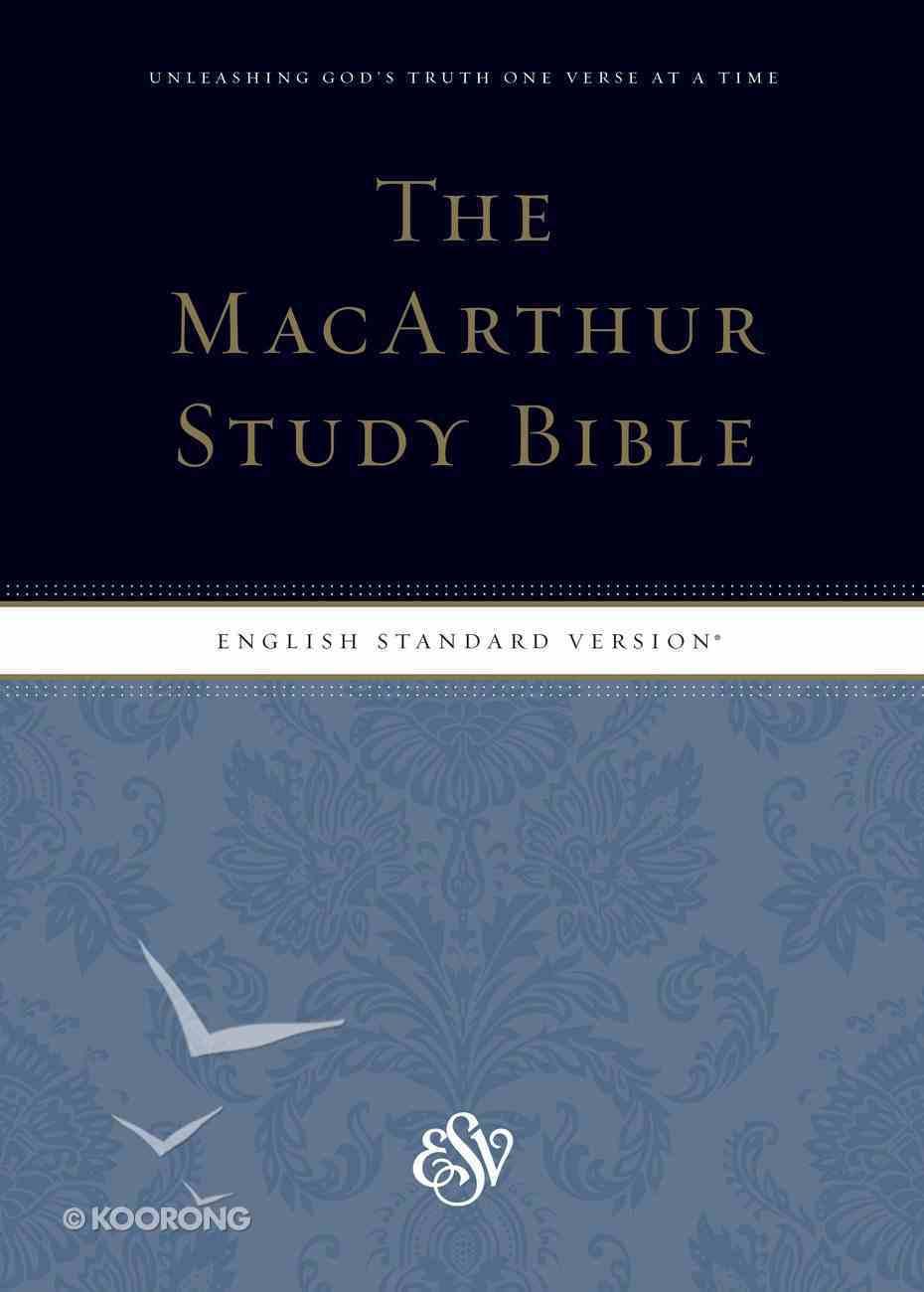 ESV Macarthur Study Bible Indexed (Black Letter Edition) Hardback