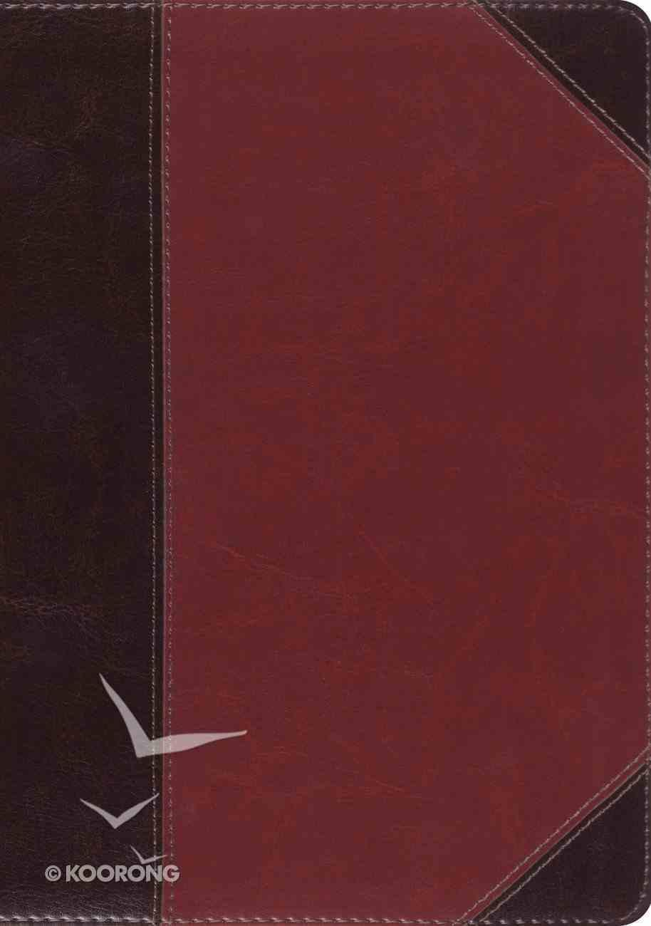 ESV Macarthur Study Bible Large Print Brown/Cordovan Portfolio Design (Black Letter Edition) Imitation Leather