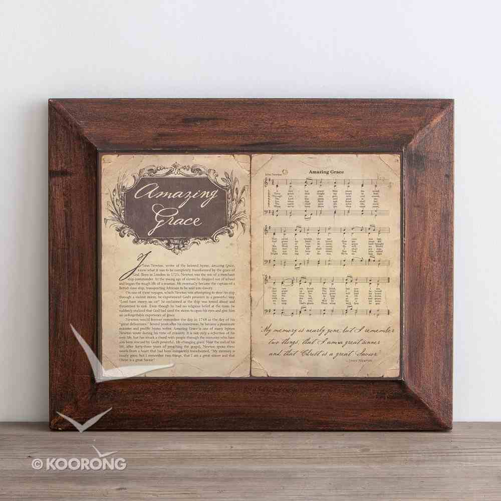 Wall Art: Amazing Grace Story and Hymn Plaque