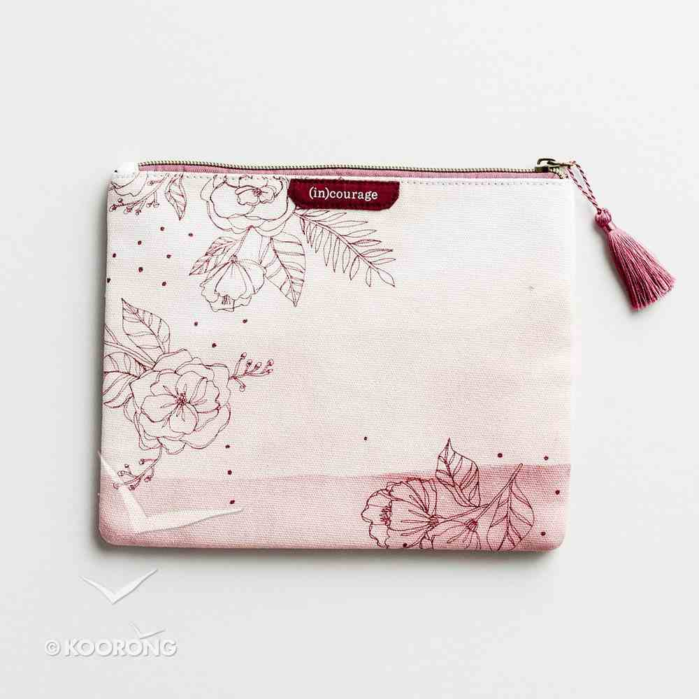 Canvas Flat Pouch: The Struggle is Real, But So is Our God, Pink ((In)courage Gift Product Series) Soft Goods