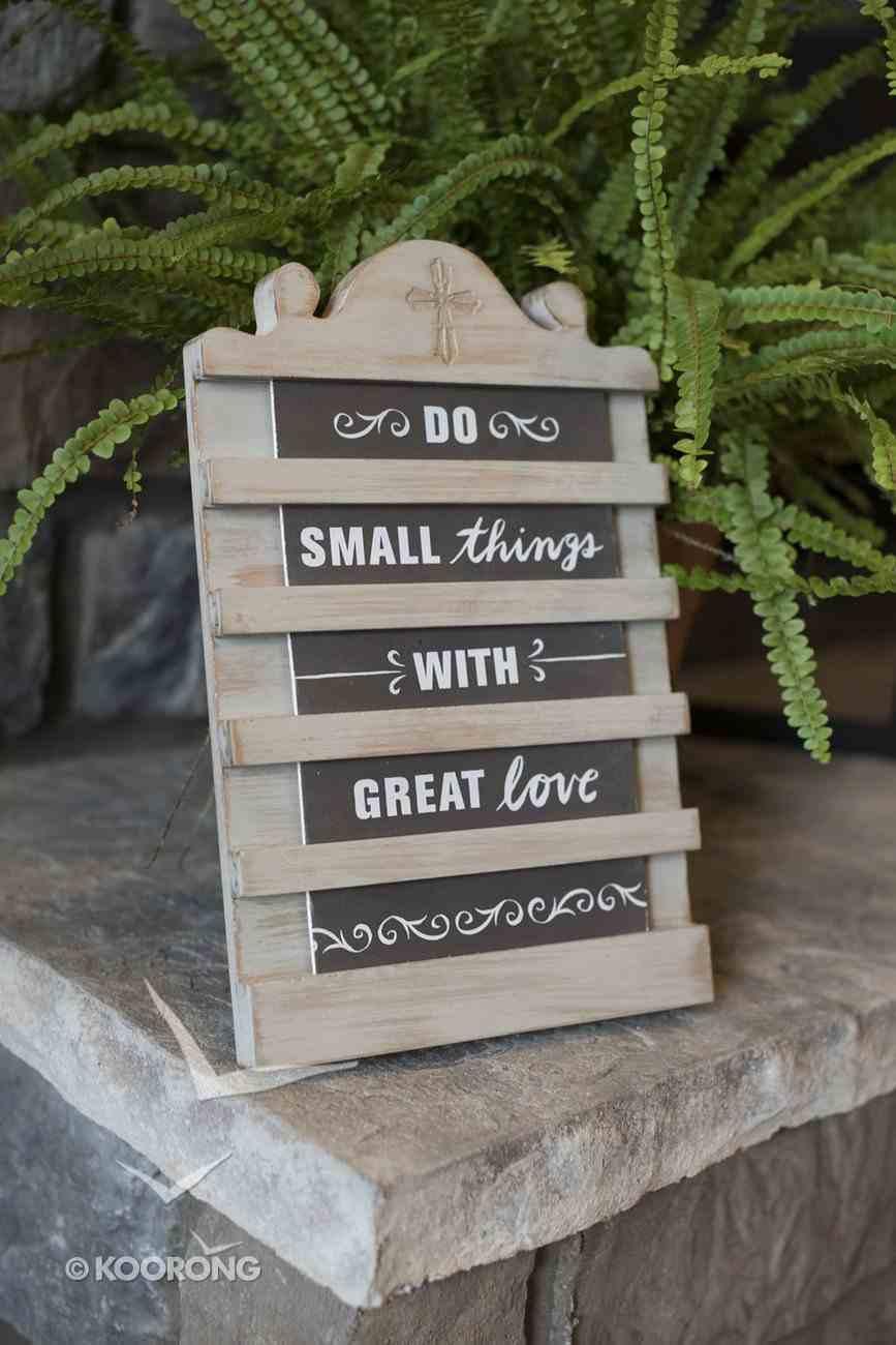 Mini Announcement Board: Love, Mdf (1 Cor 16:14 Nasb) Plaque