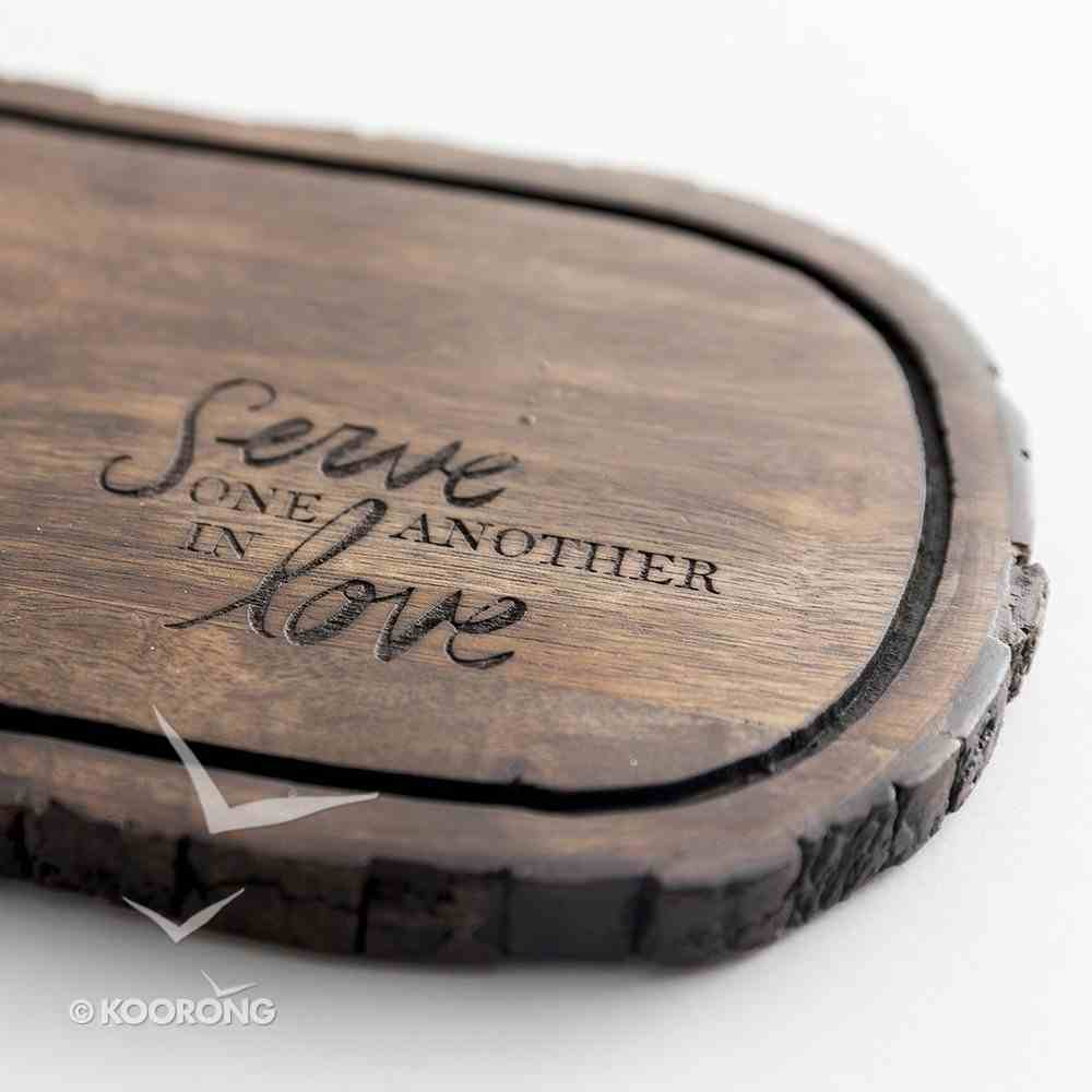 Wooden Cheese Tray: Serve One Another in Love Homeware