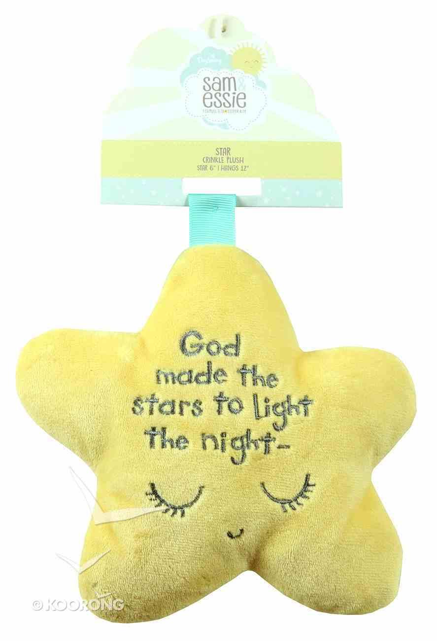 Sam & Essie: Plush Star Crinkle With Ribbon Strap (Matthew 5:16) Soft Goods
