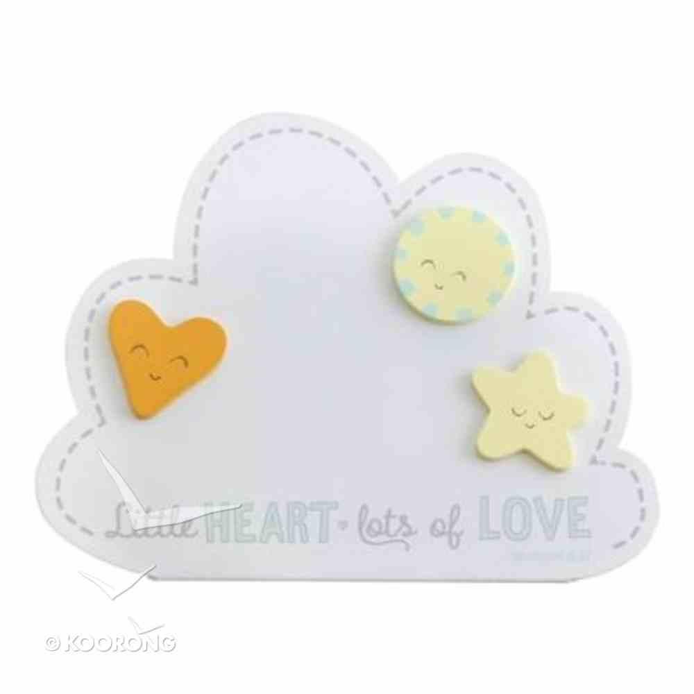 Little Heart Magnet Frame: Lots of Love (Romans 5:5) Plaque