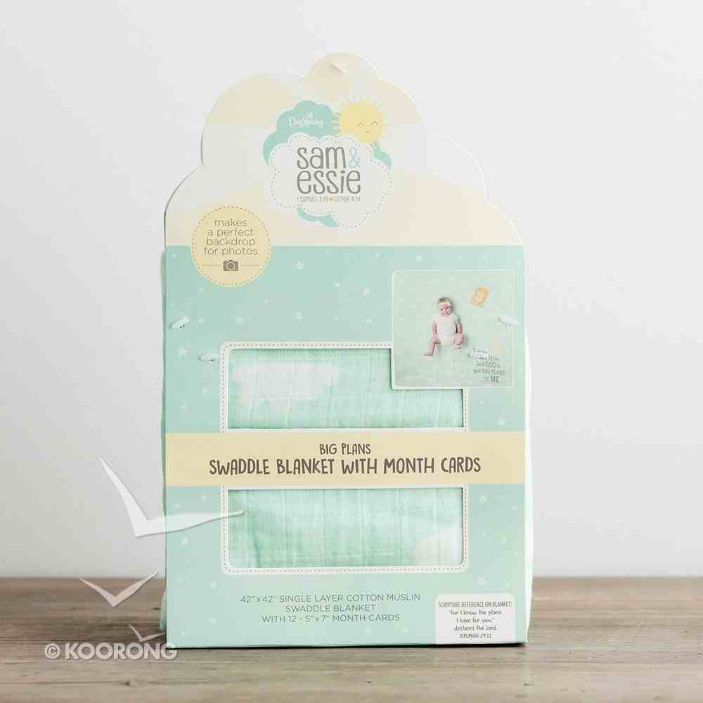 Baby Swaddle Blanket & 12 Months Cards Soft Goods