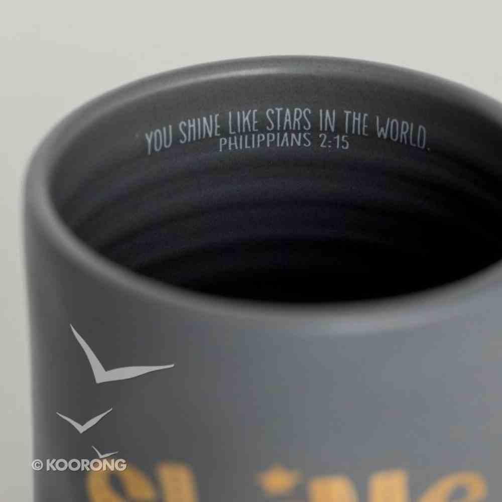 Christmas Ceramic Mug: Shine, Gold Foil Lettering and Design Homeware