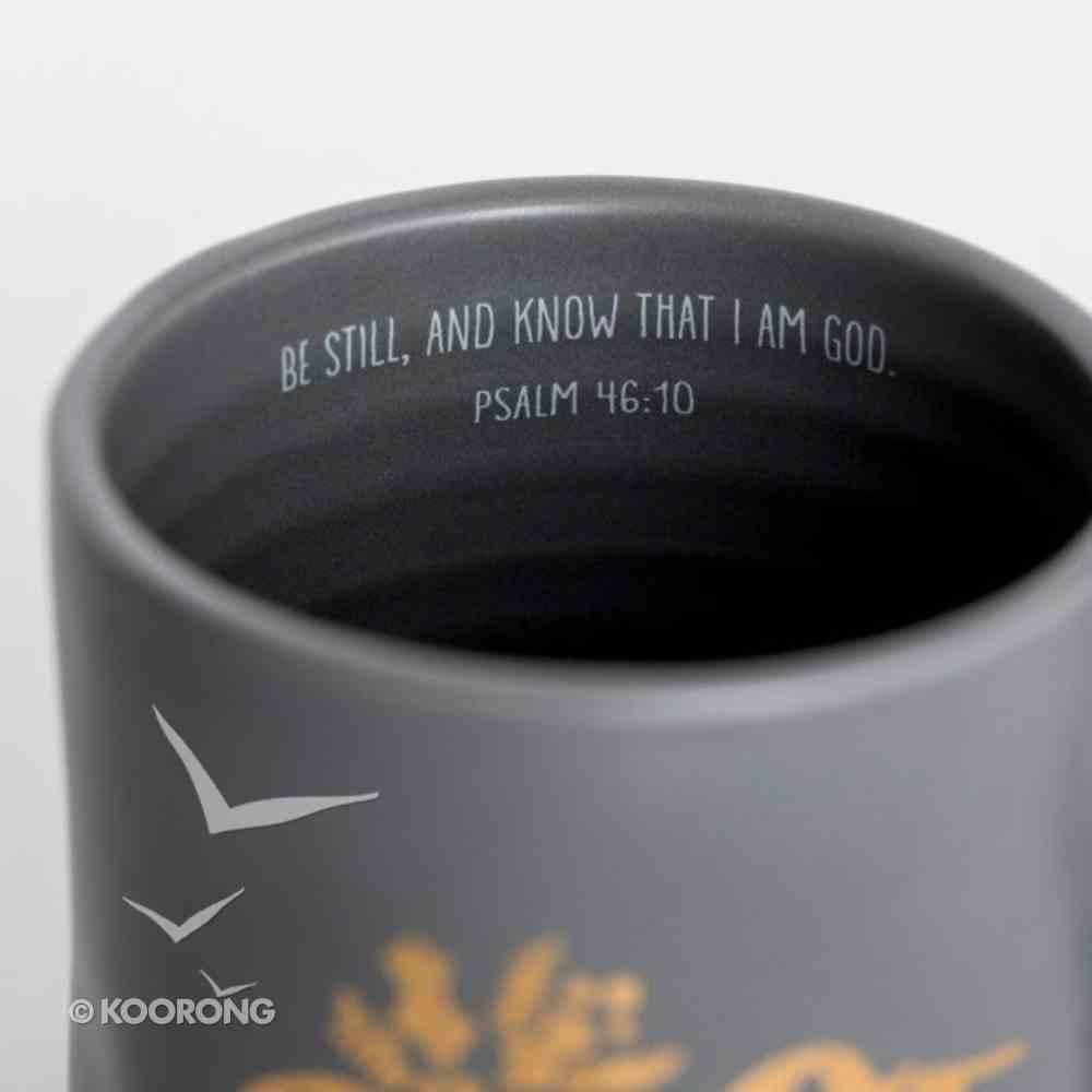Christmas Ceramic Mug: Peace, Gold Foil Lettering and Design Homeware