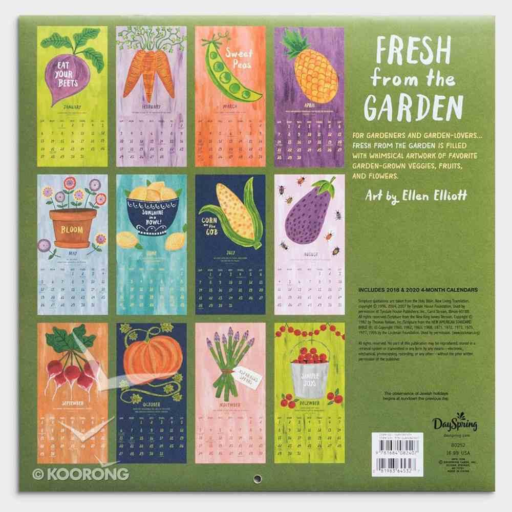 2019 Wall Calendar: Fresh From the Garden Calendar