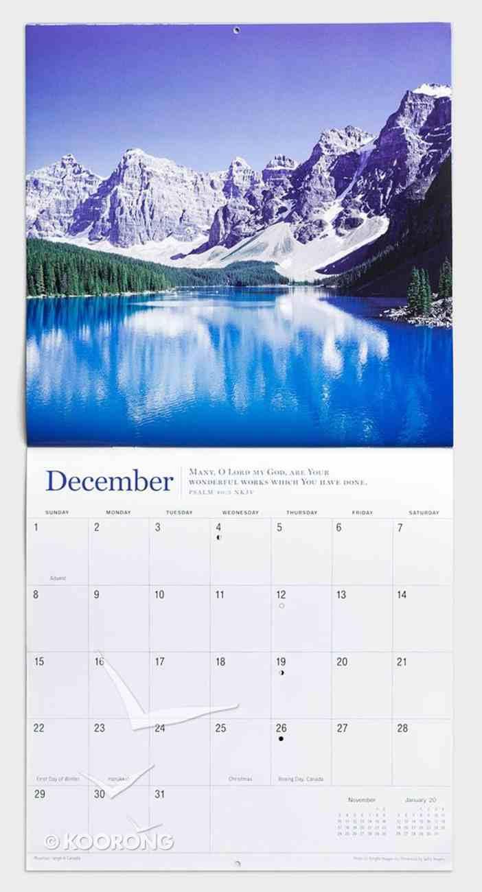 2019 Wall Calendar: Mountains Majesty Calendar