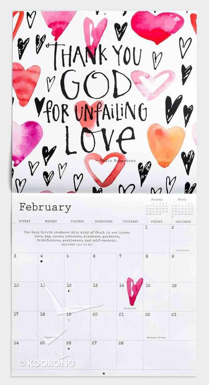 2019 Wall Calendar: Keep on Smiling With Sadie Robertson Calendar
