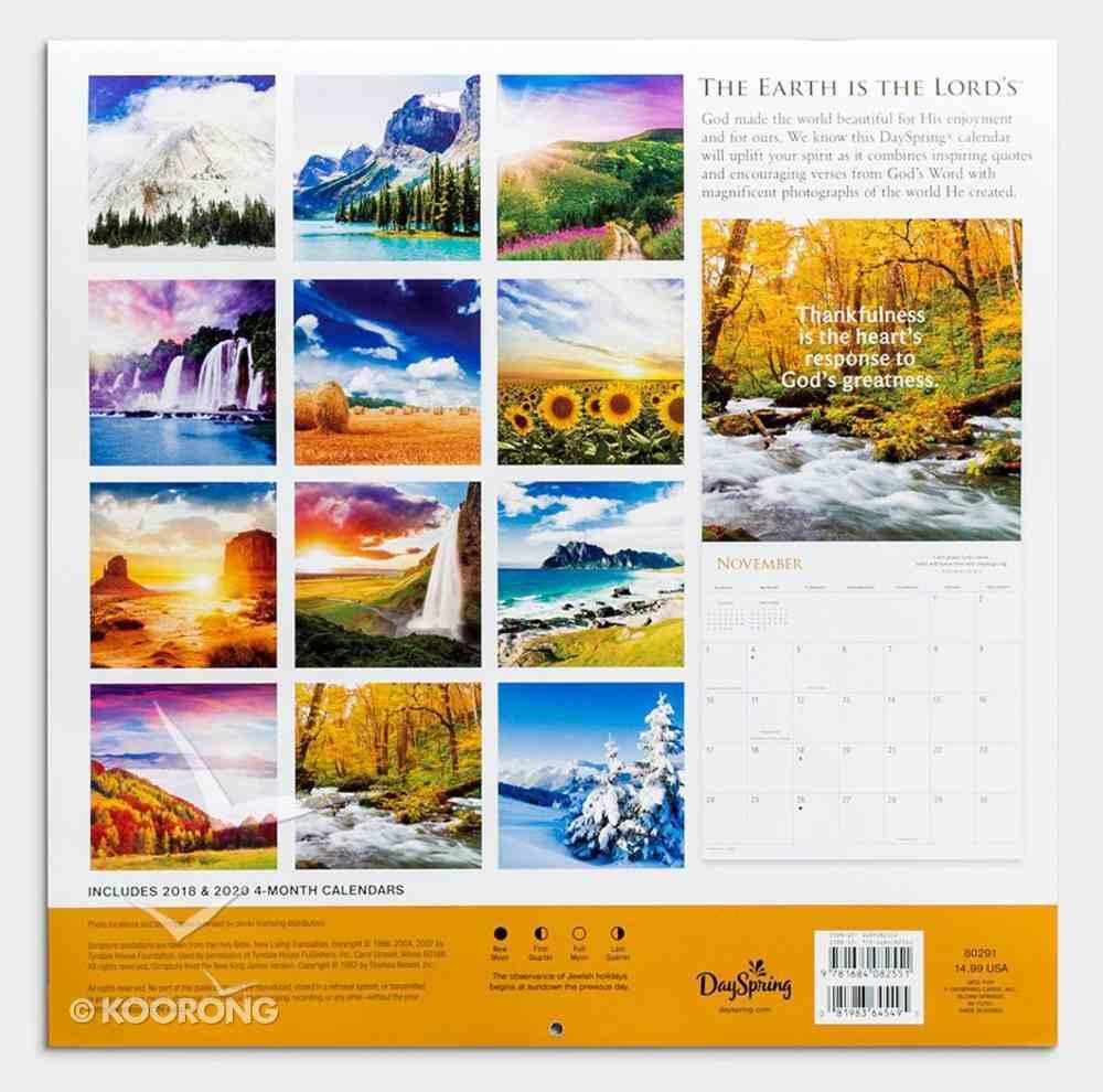 2019 Wall Calendar: The Earth is the Lord's Calendar