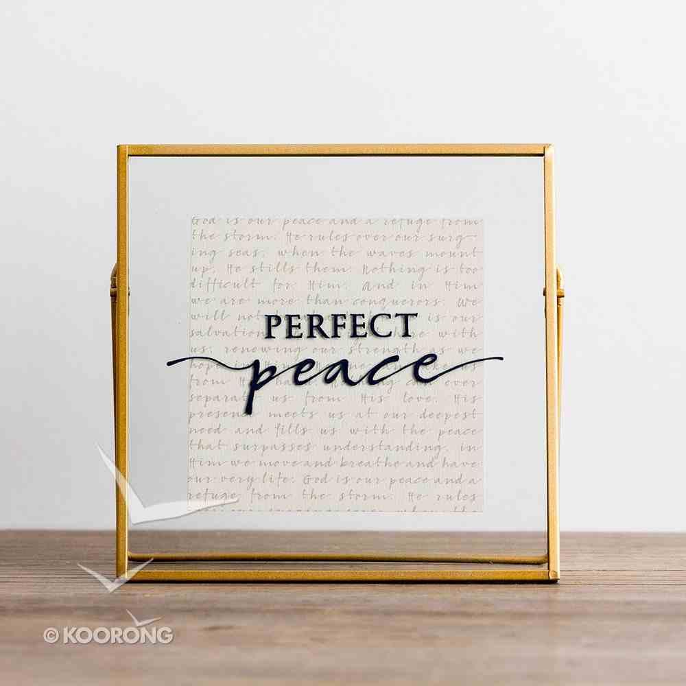 Glass Plaque: Perfect Peace, Copper Frame Plaque