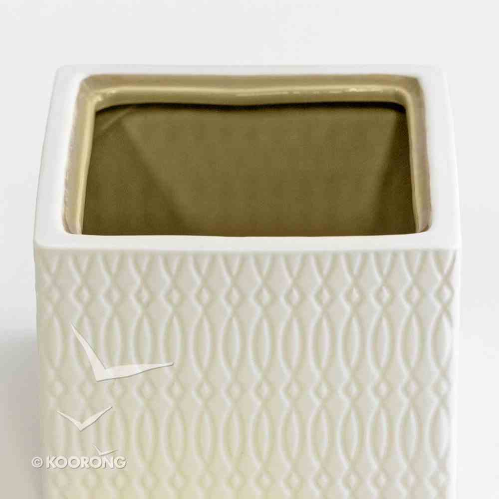 Textured Keepsake Box: Perfect Peace, Cream Outside/Nutmeg Inside Homeware