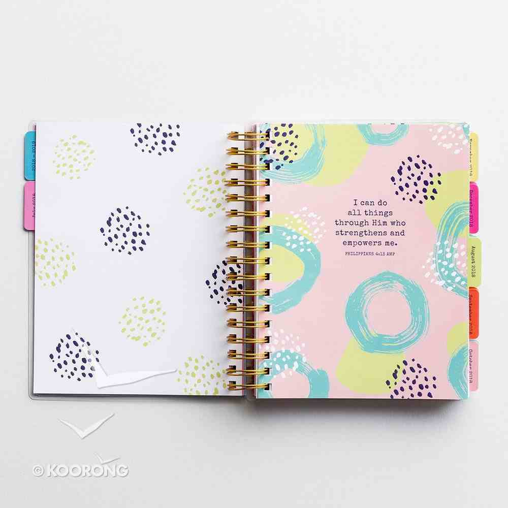 2019 18-Month Diary/Planner: Just Give Me Jesus Spiral