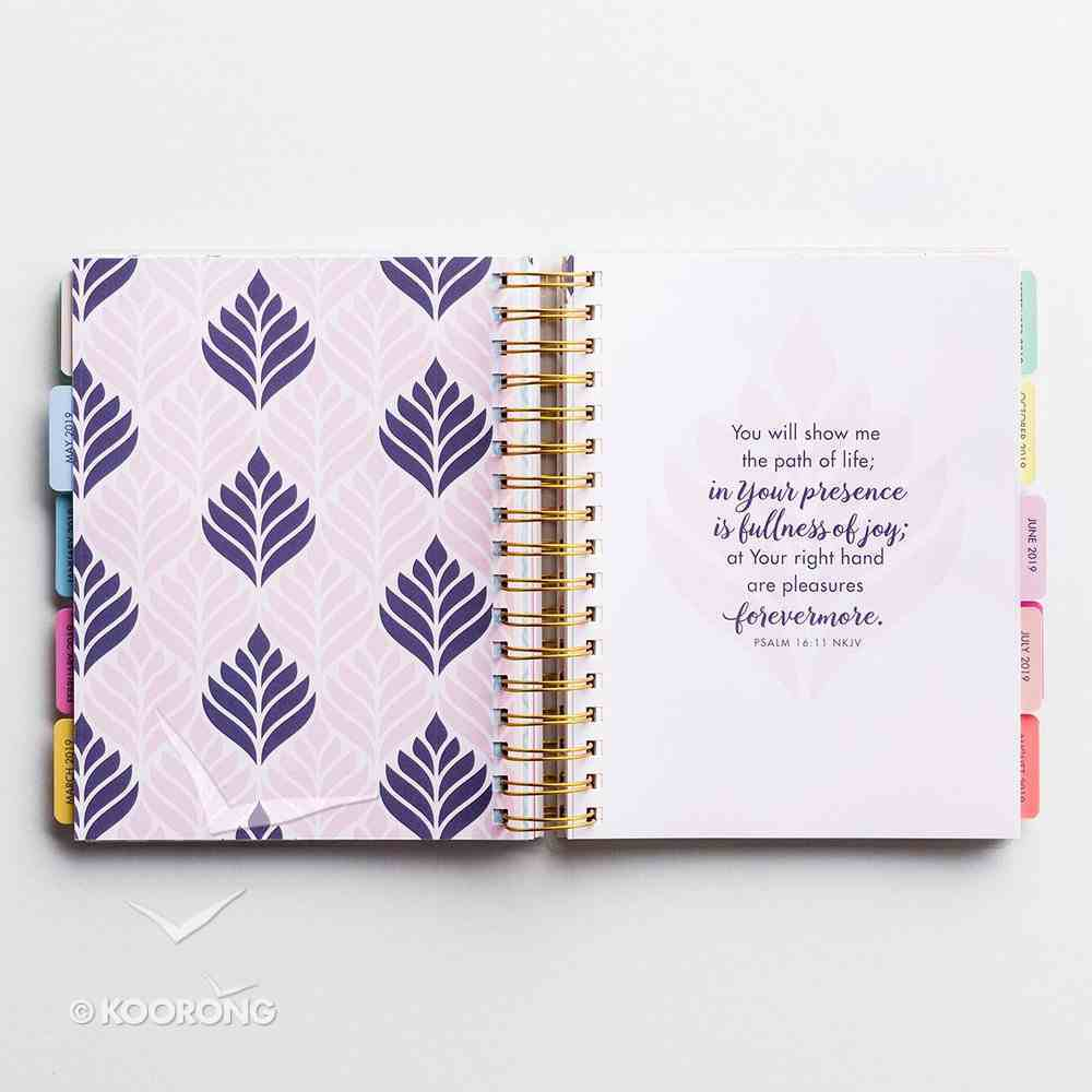 2019 18-Month Diary/Planner: Be True, Floral Spiral
