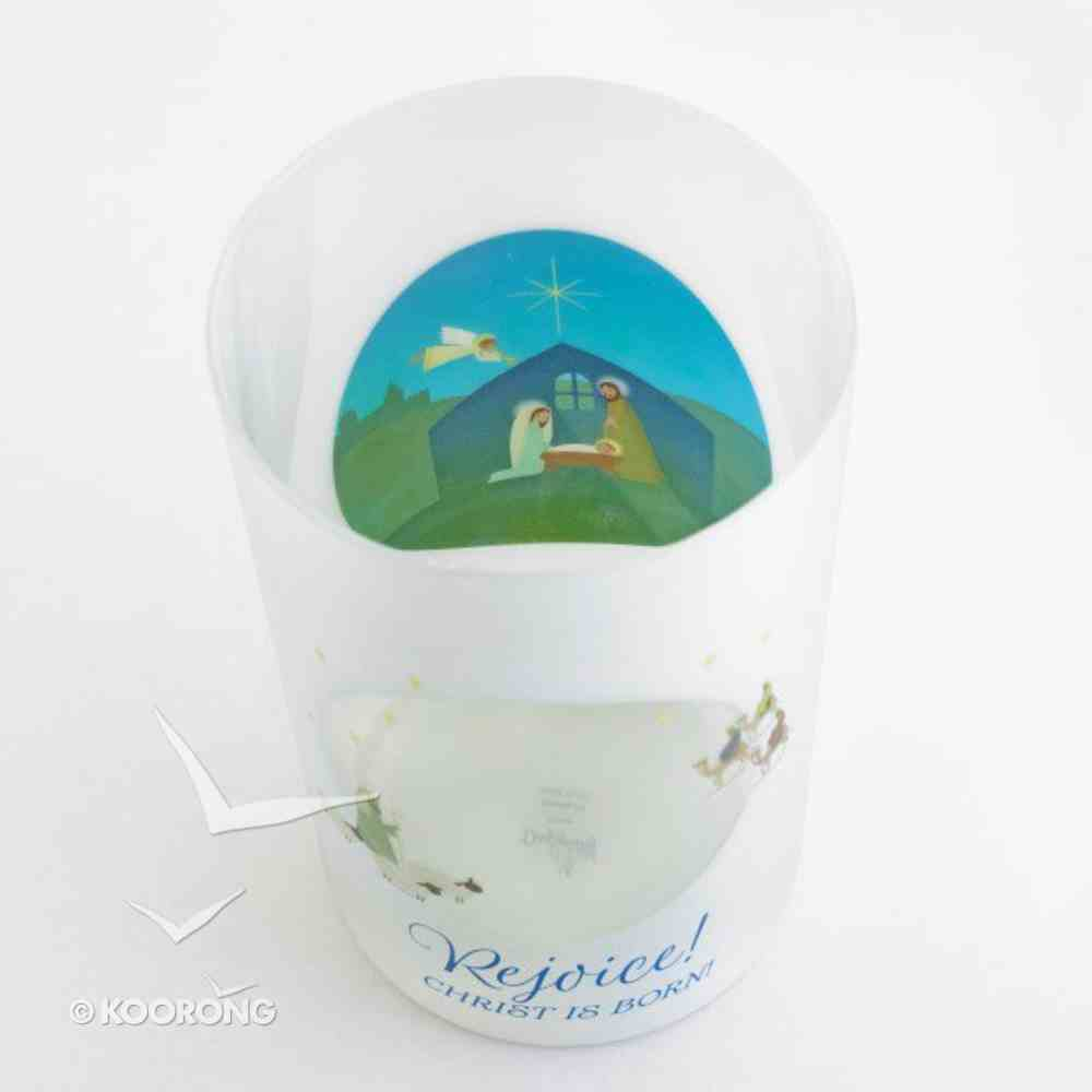 Christmas Glass Candle Holder: Holy Family Homeware